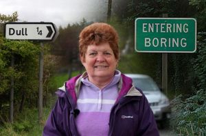 Marjorie+Kebbie,+Chair+of+Community+Council+from+Dull.+The+village+of+Dull,+that+is+to+be+twinned+with+the+US+town+of+Boring